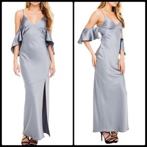ASTR black label satiny long dress. Xs